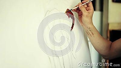 Artist prepares the paint stock video footage