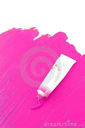 artist 39 s hot pink paint stock photo image 11976540