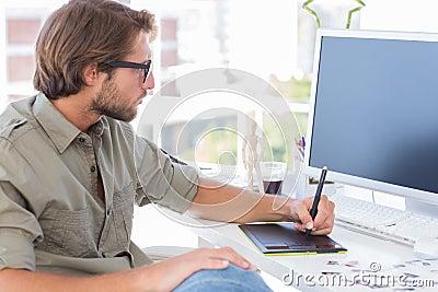 Artist using graphics tablets