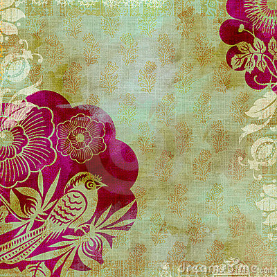 Free Artisti Batik Floral Design Background Stock Photos - 9108203