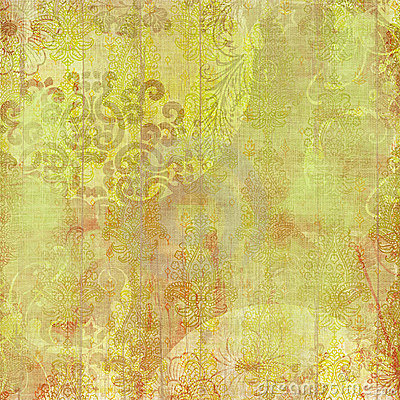 Artisti Batik Floral Design Background