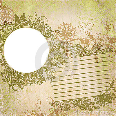 Artisti Batik Floral Design Frame Background