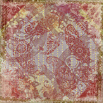 Free Artisti Batik Floral Design Frame Background Stock Photo - 9118790