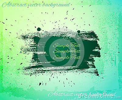 Artistic abstract vector banner