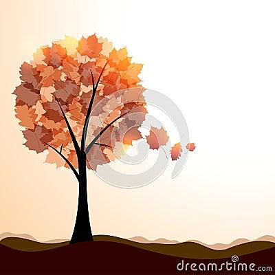 Artistic autumn landscape