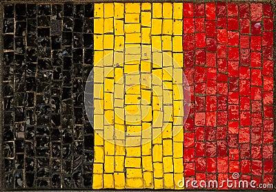 Artistic Belgium flag