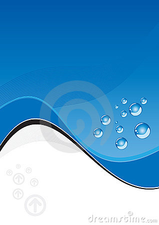 Free Artistic Blue Wave And Bubbles Stock Images - 4151454