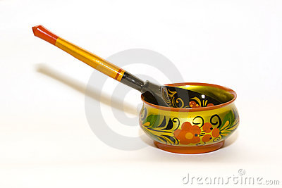 Artistic bowl with spoon