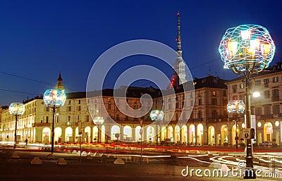 Artistic Christmas lamp, Turin