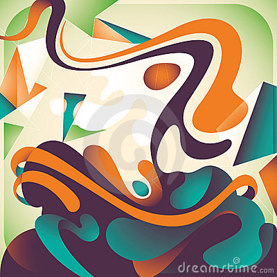 Artistic colorful abstraction.