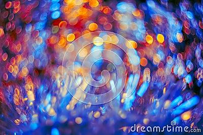 Artistic colorful bokeh created.Toned image Stock Photo