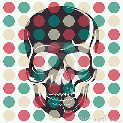 Artistic concept with skull.