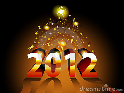 Artistic concept vector for 2012
