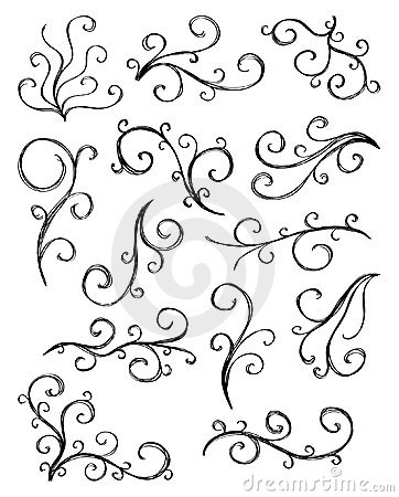 Artistic curl elements