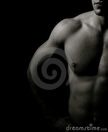 Free Artistic Dark Portrait Of One Muscular Man Royalty Free Stock Photography - 7784127