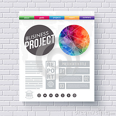 Artistic Design Template For A Business Project Vector – Project Design Template