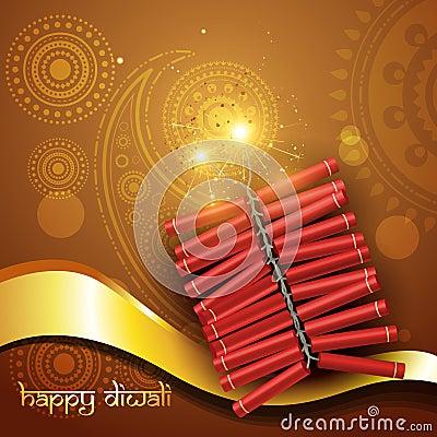 Artistic diwali crackers