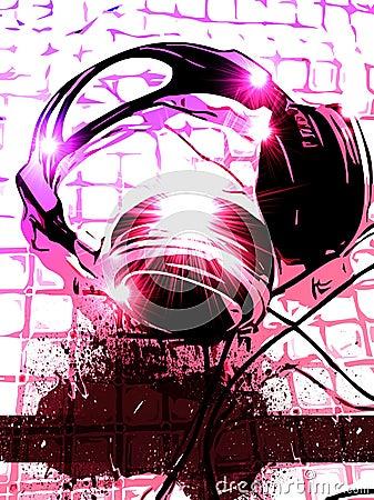 Artistic DJ Handset music Background