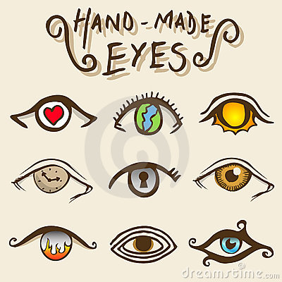 Artistic eyes vector