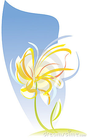 Artistic flower sketch. Vector illustration