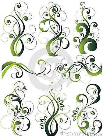 Artistic flowery designs