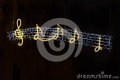 Artistic glowing musical sign Stock Photo