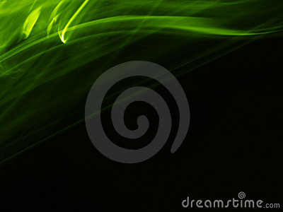 Artistic Green Silky Trail