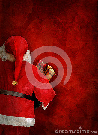 Free Artistic Greeting Card Or Poster Design With Santa Claus Doll Stock Image - 60973091