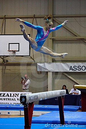 Free Artistic Gymnastics International Competition Stock Photos - 16334823