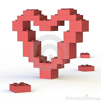Artistic heart-shape