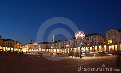 Artistic lamps in Turin