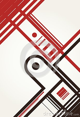 Artistic layout with abstraction.
