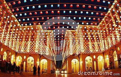 Artistic lights buildings