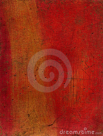 Artistic mixed media texture - red and gold