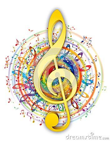 Artistic music key illustration