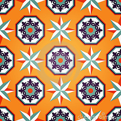 Artistic Orange Seamless Pattern