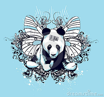 Free Artistic Panda Design Royalty Free Stock Images - 4108059