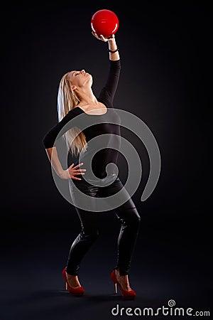 Artistic photo of female dancer