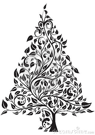Artistic pine tree