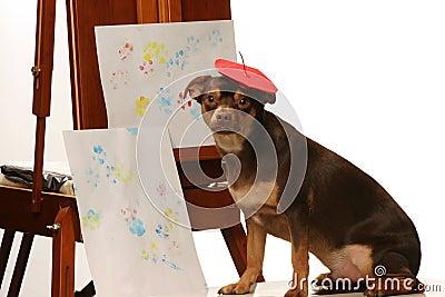 Artistic pooch