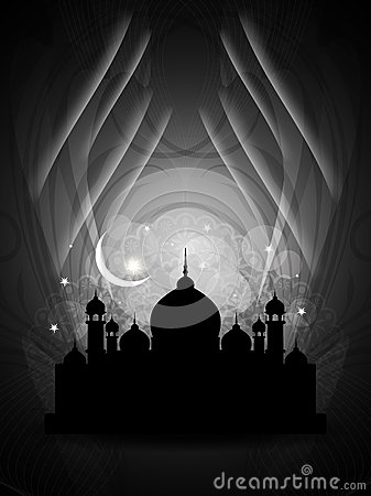Artistic Religious Eid Background With Mosque. Royalty Free Stock Photo - Image: 27880095