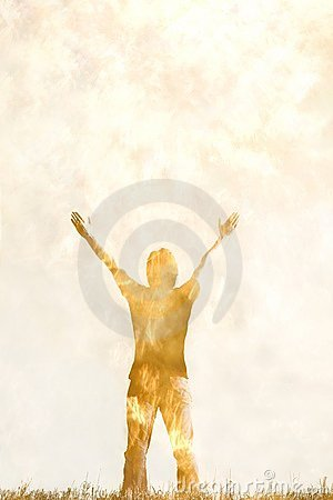 Artistic Rendition Of Person With Arms Raised