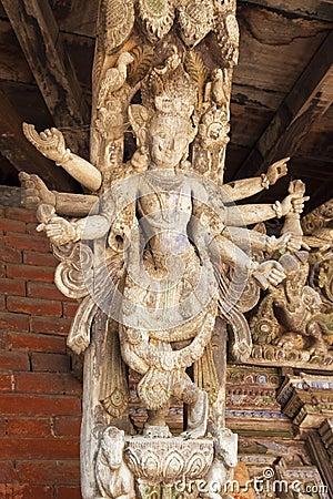 Artistic Roof Strut, Changu Narayan Temple, Nepal