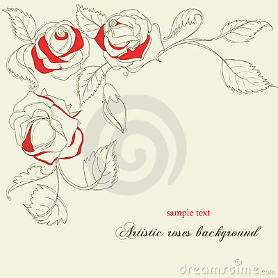 Artistic roses background