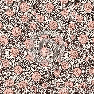 Artistic Seamless pattern with roses