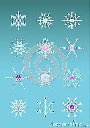 Artistic snowflakes