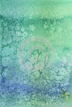 Green artistic watercolored background