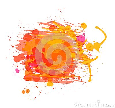 Artistic vector watercolor background of sunny