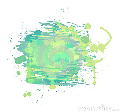 Artistic watercolor vector background. Light green