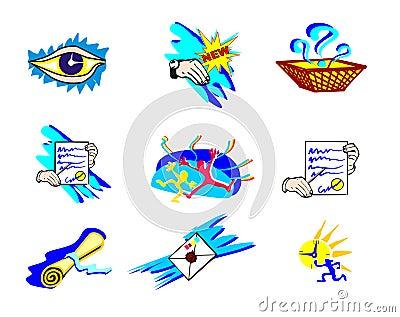 Artistic web icons